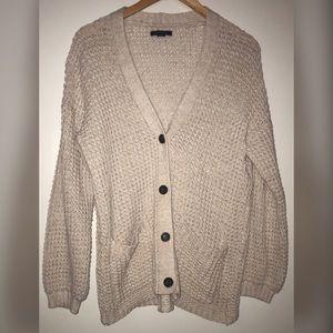 American Eagle slouchy waffle knit cardigan